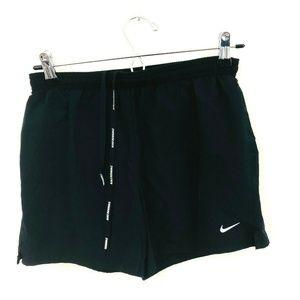 Nike Black Drawstring Athletic Running Shorts XS